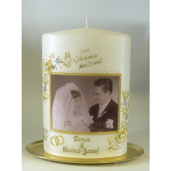 Kerzen Junglas Anlasskerzen Jubilaumskerzen Goldene Hochzeit