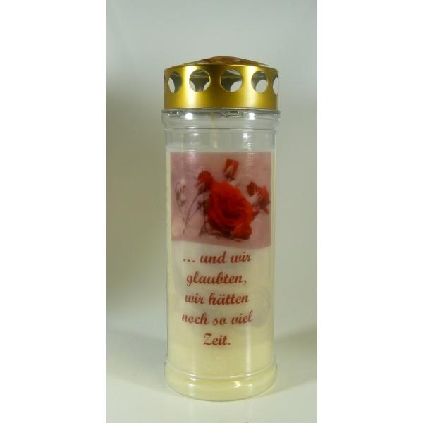 Grablichter mit Spruch und Motiv Kerzen Junglas