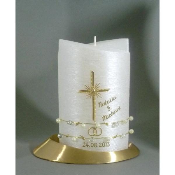 Kerzen Junglas Moderne Hochzeitskerze In Der Farbe Gold